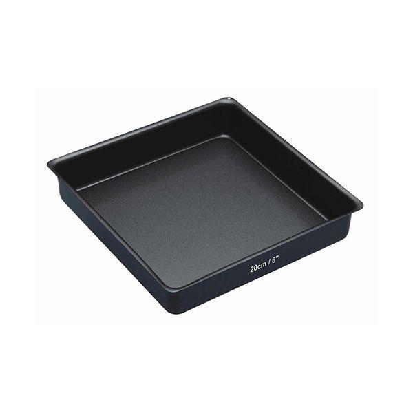 "Master Class Non-Stick Square Loose Base Sandwich Pan Square 20cm (8"")"
