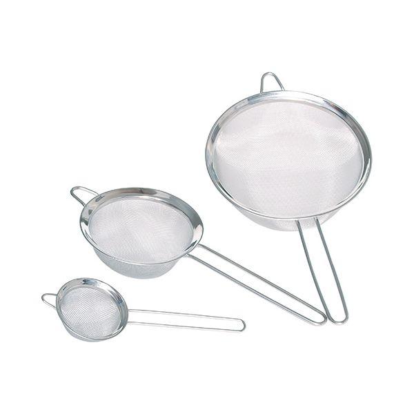 KitchenCraft Set of Three Stainless Steel Fine Mesh Round Sieves