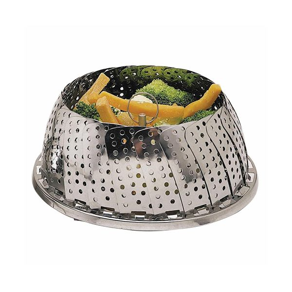 KitchenCraft Stainless Steel Collapsible Steaming Basket 28cm