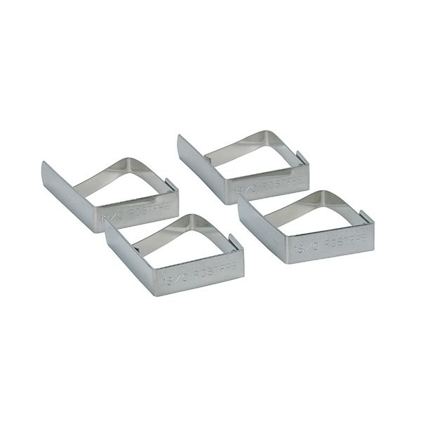KitchenCraft Set of Four Stainless Steel Table Cloth Clips