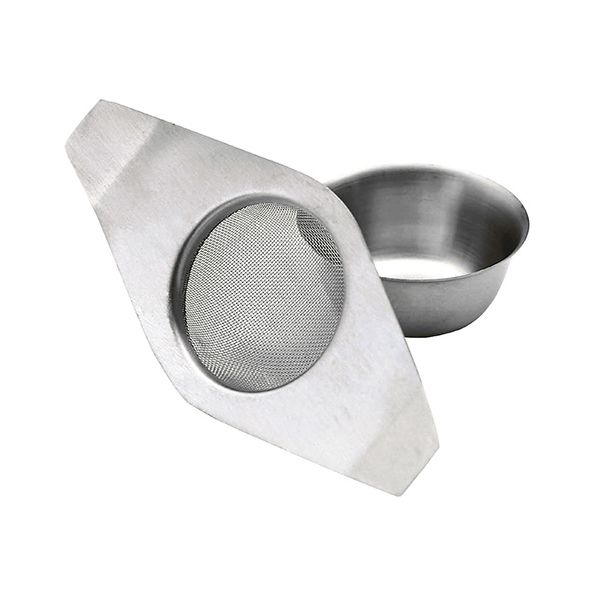 KitchenCraft Stainless Steel Double Handled Tea Strainer