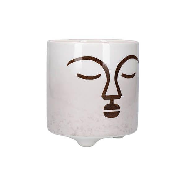 KitchenCraft Mini Planter Terracotta Face Design