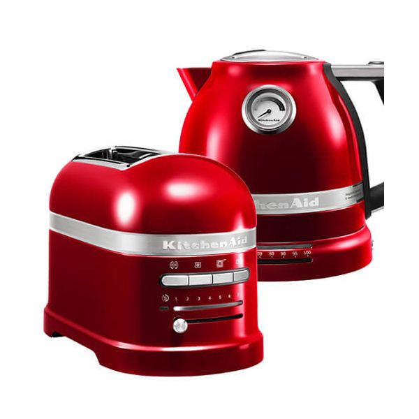 KitchenAid Artisan Candy Apple 2 Slot Toaster and Kettle Set