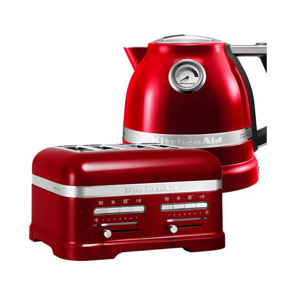 KitchenAid Artisan Candy Apple 4 Slot Toaster and Kettle Set