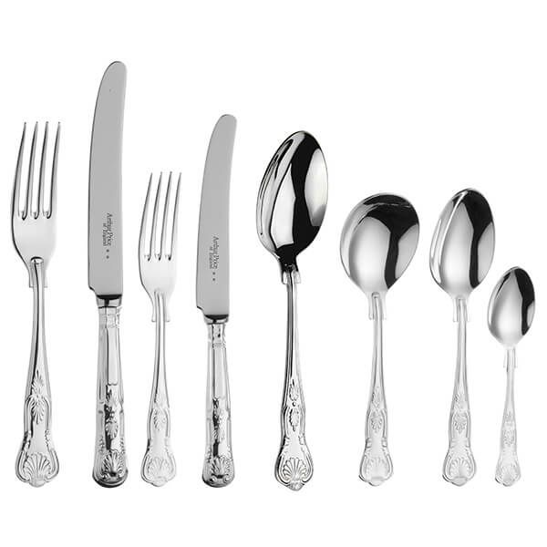 Arthur Price of England Sovereign Stainless Steel Kings 44 Piece Cutlery Box Set