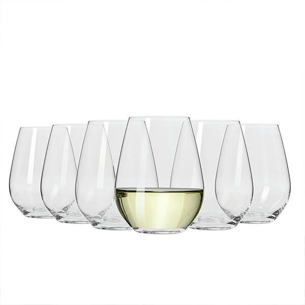 Maxwell & Williams Vino Set Of 6 400Ml Stemless White Wine Glasses Gift Boxed
