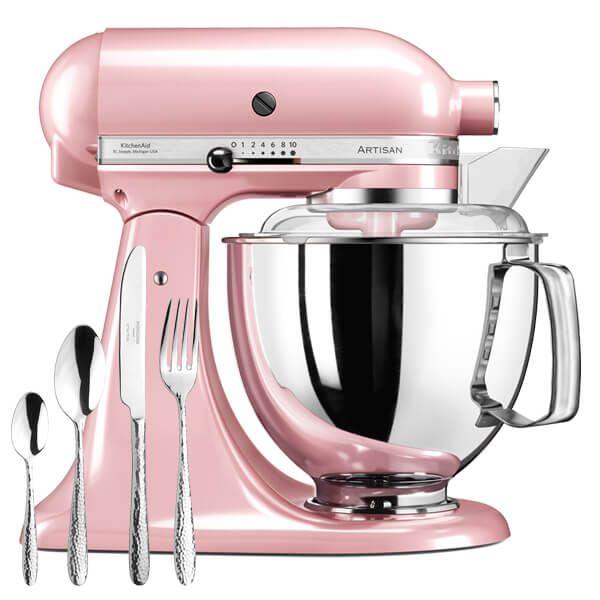 KitchenAid Artisan Mixer 175 Silk Pink with FREE Gift