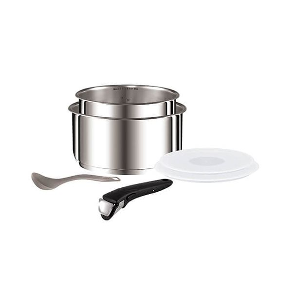 Tefal Ingenio Stainless Steel 6 Piece Saucepan Set