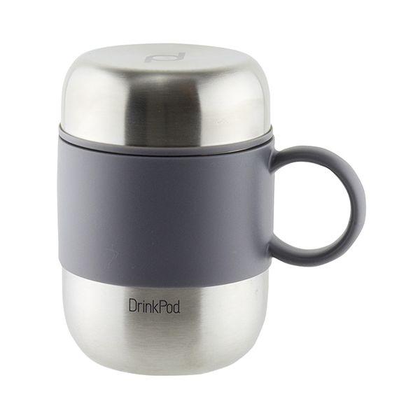 Grunwerg Pioneer Vacuum Mini Mug With Handle Stainless Steel
