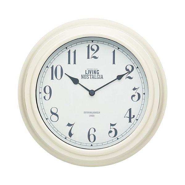 Living Nostalgia Antique Cream Indoor Wall Clock