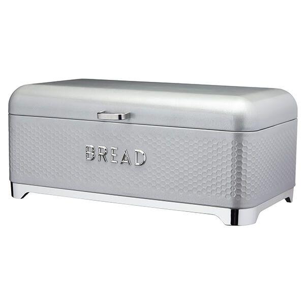 Lovello Retro Shadow Grey Textured Bread Bin