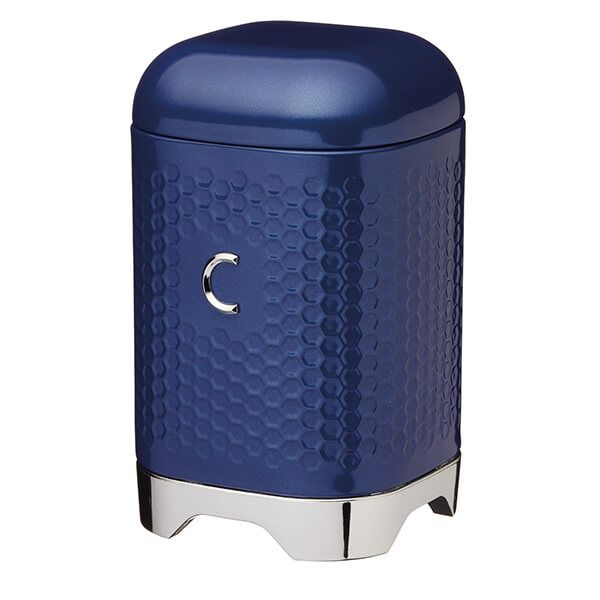 Lovello Retro Midnight Blue Textured Coffee Canister