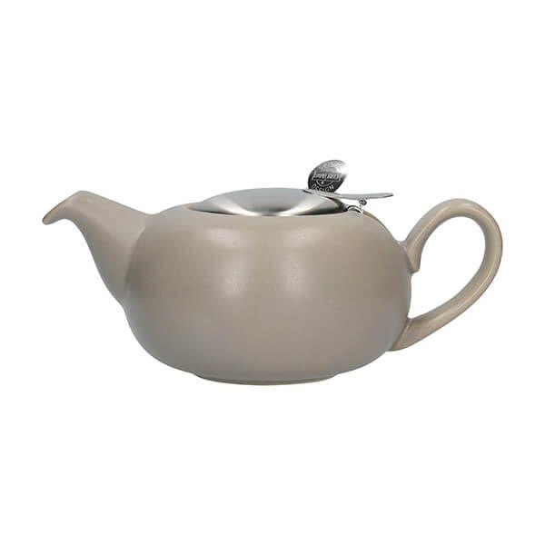 London Pottery Pebble Filter 2 Cup Teapot Matt Putty