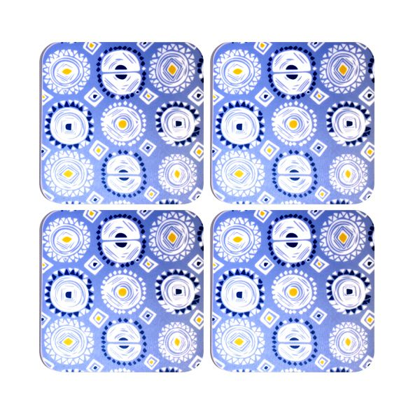 Melamaster Moulded Coasters Pack Of 4 Orbs