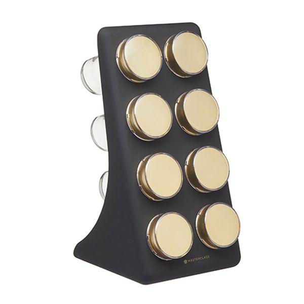 MasterClass Brass Finish 8 Jar Spice Rack