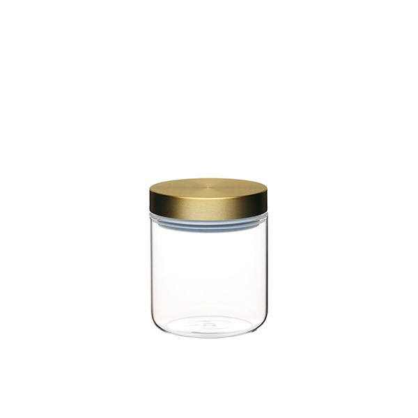 Master Class Small Glass Canister with Burnished Brass Lid