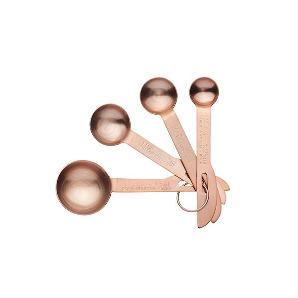 Master Class Copper Measuring Spoons Set Of 4