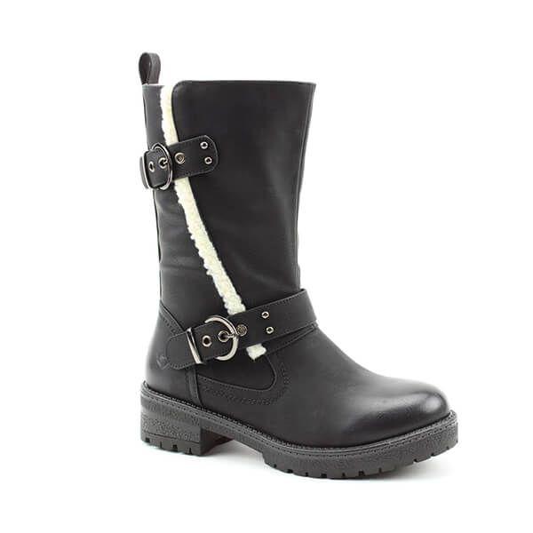 Heavenly Feet Black Bonnie Mid Calf Boots
