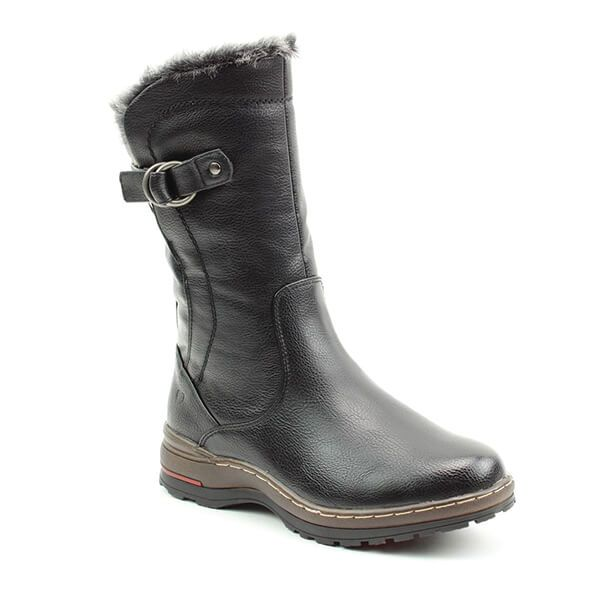 Heavenly Feet Black Bramble Mid Calf Boots