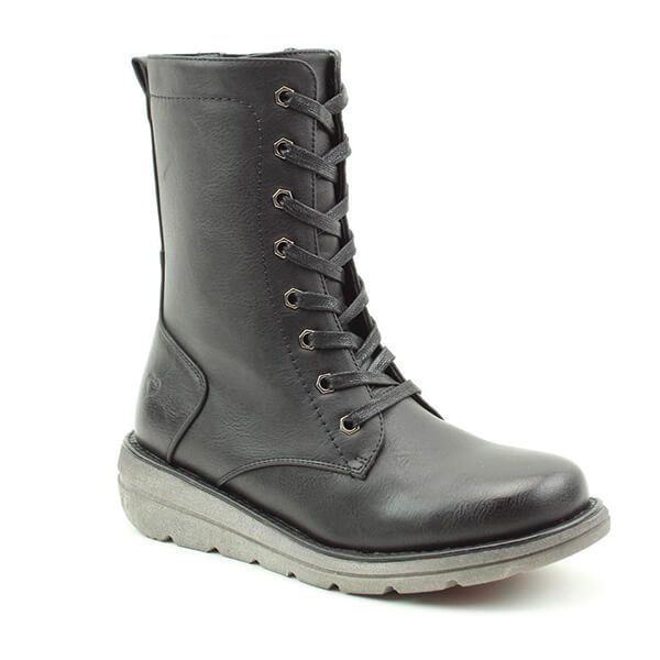 Heavenly Feet Martina3 Black Mid Leg Boots