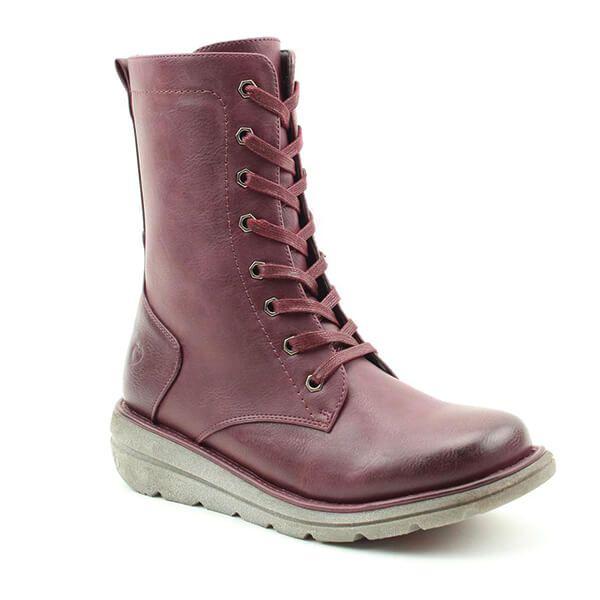 Heavenly Feet Martina3 Dark Berry Mid Leg Boots