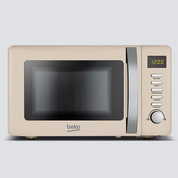 Beko 800 Watt / 20 Litre Microwave Retro Cream
