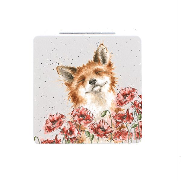 Wrendale Designs Poppy Fields Fox Compact Mirror
