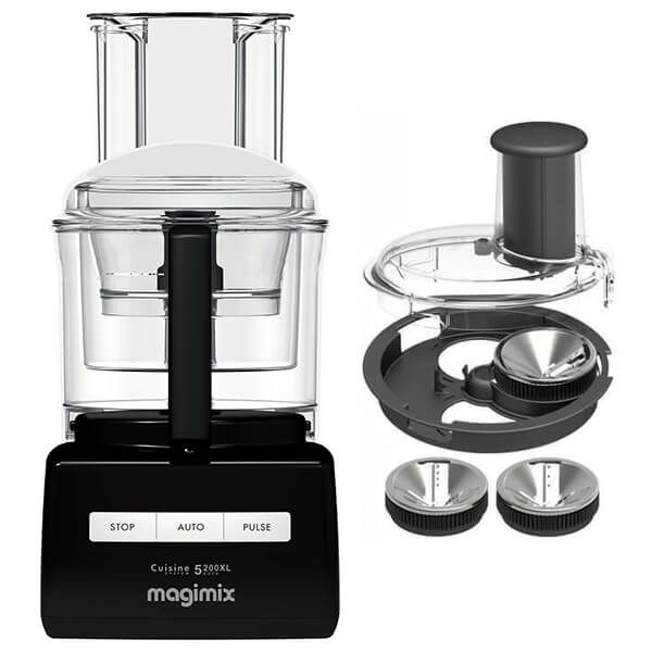 Magimix 5200XL Premium Black Food Processor with FREE Gift