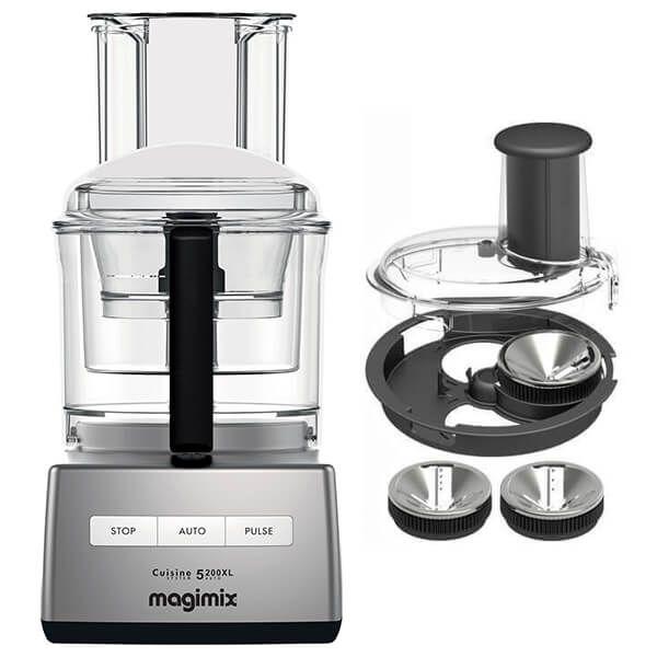 Magimix 5200XL Premium Satin Food Processor with FREE Gift