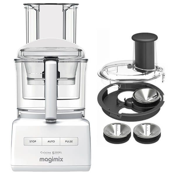 Magimix 5200XL Premium White Food Processor with FREE Gift