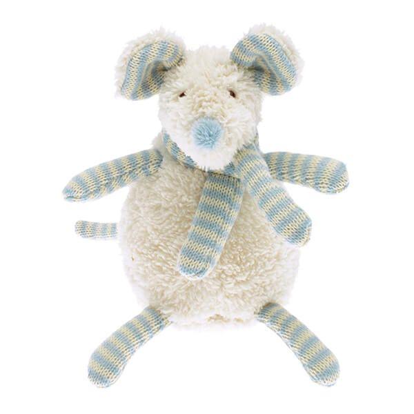 Walton & Co Nursery Softee Blue Mouse Toy