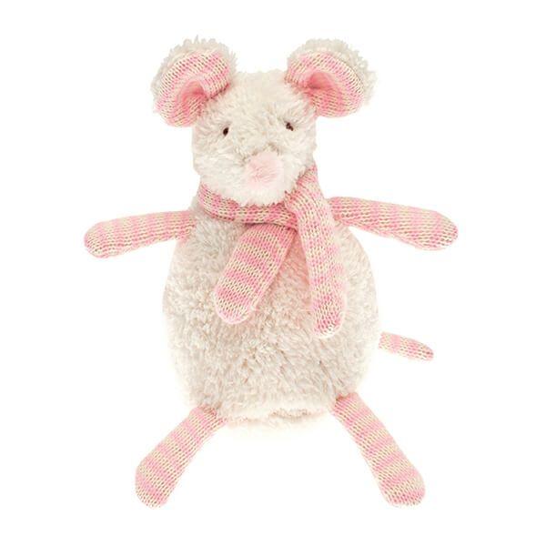 Walton & Co Nursery Softee Pink Mouse Toy