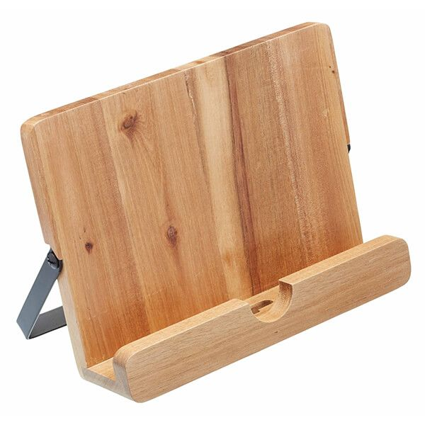 Natural Elements Acacia Wood Cookbook / I Pad / Tablet Stand
