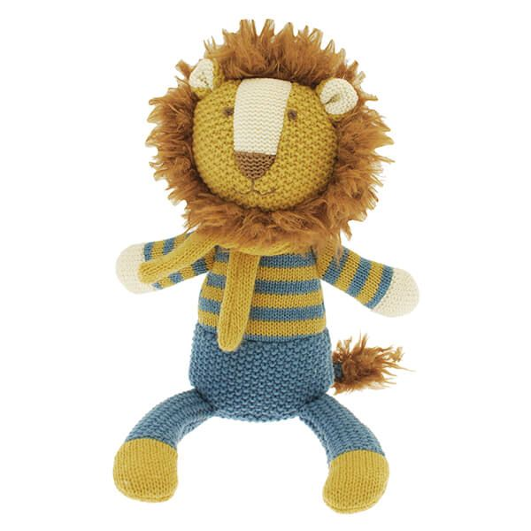 Walton & Co Knitted Yellow Lion Toy
