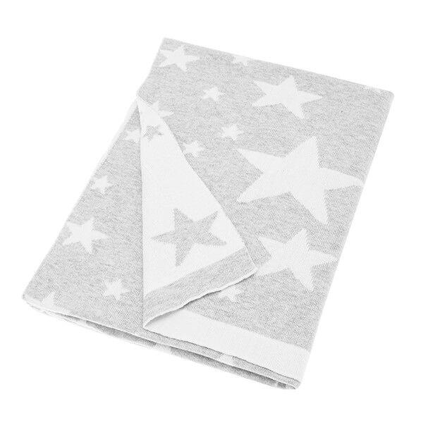 Walton & Co Grey Stars Baby Blanket