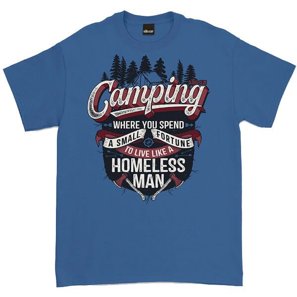 Oldies Club Indigo Blue Camping T-Shirt