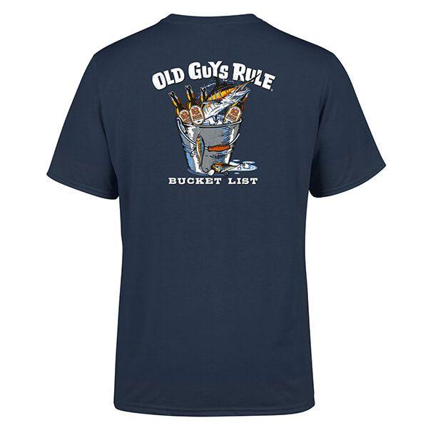 Old Guys Rule Blue Dusk Bucket List T-Shirt
