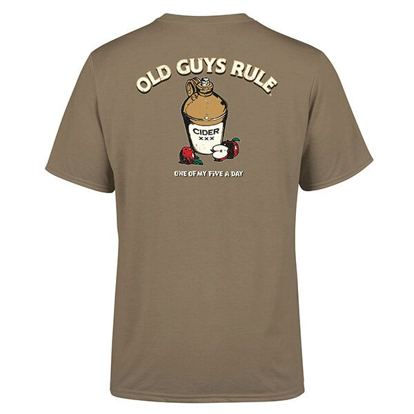 Old Guys Rule Prairie Dust Five a Day T-Shirt