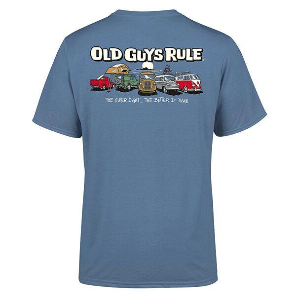 Old Guys Rule Indigo Blue Parking Lot III T-Shirt