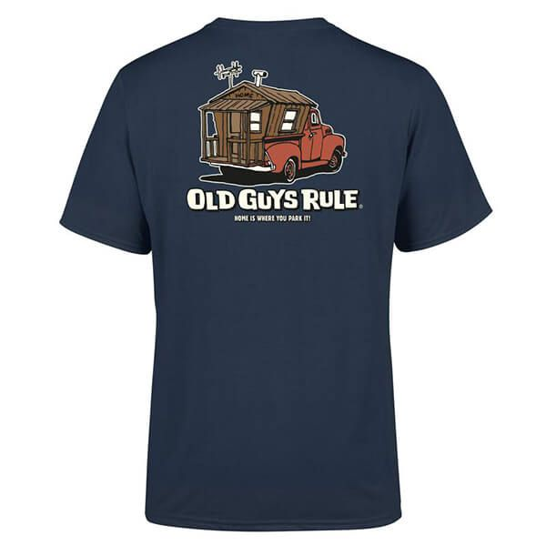 Old Guys Rule Blue Dusk Home is Where T-Shirt