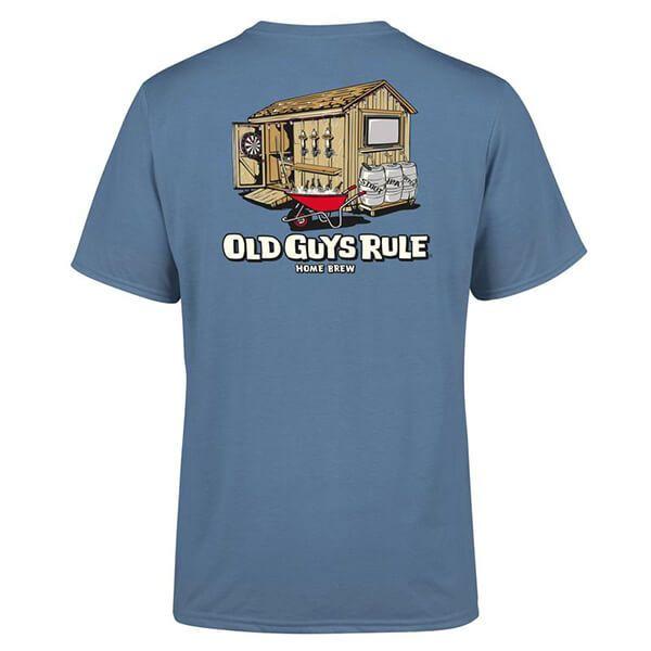 Old Guys Rule Indigo Blue Home Brew T-Shirt