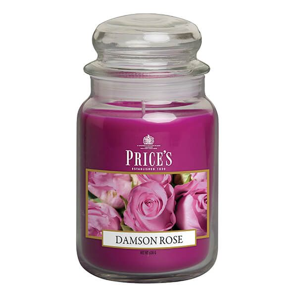 Prices Fragrance Collection Damson Rose Large Jar Candle
