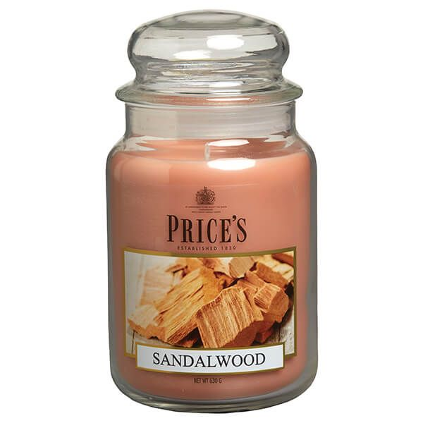 Prices Fragrance Collection Sandalwood Large Jar Candle