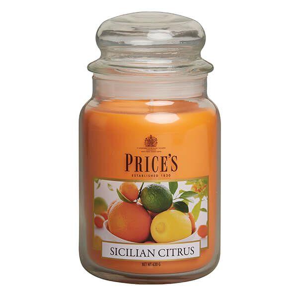 Prices Fragrance Collection Sicilian Citrus Large Jar Candle