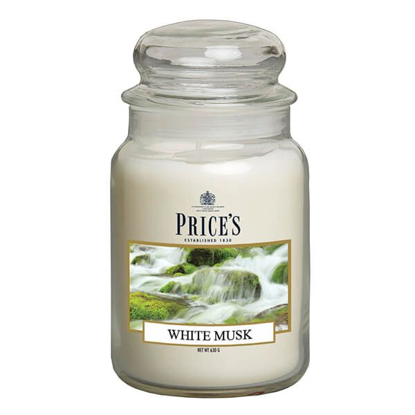 Prices Fragrance Collection White Musk Large Jar Candle
