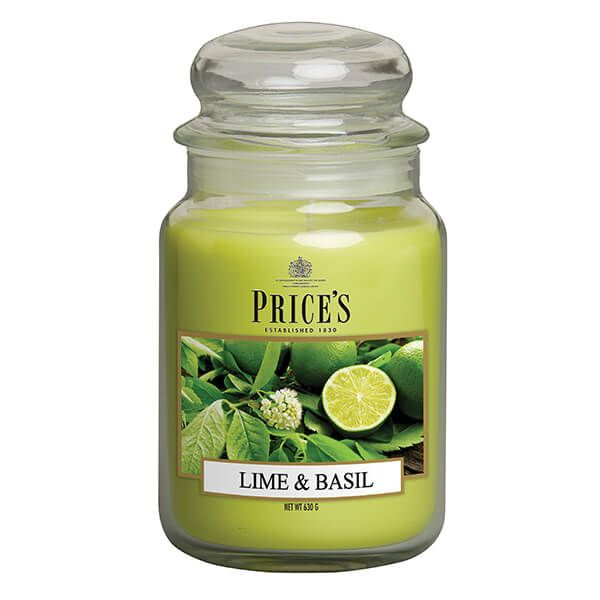 Prices Fragrance Collection Lime / Basil Large Jar Candle