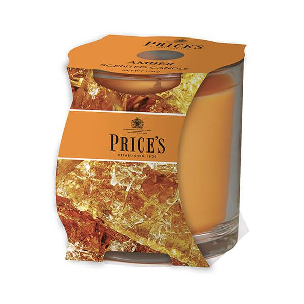 Prices Fragrance Collection Amber Cluster Jar Candle