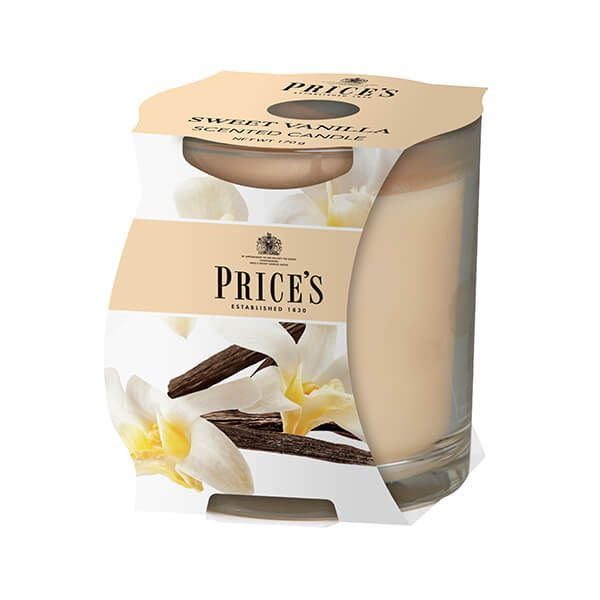 Prices Fragrance Collection Sweet Vanilla Cluster Jar Candle