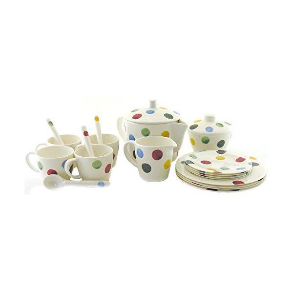 Emma Bridgewater Polka Dot 19 Piece Melamine Childs Tea Set