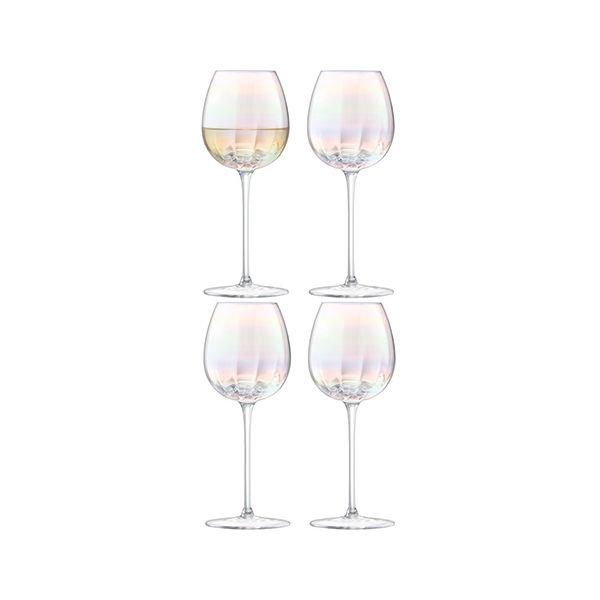 LSA Pearl White Wine Glass 325ml Set Of 4